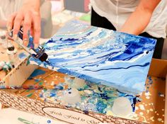 DIY Geode Rock Inspired Painting Tutorial from bloom daily planners! Learn two methods for beautiful Geode inspired masterpieces!