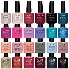 CND Shellac UV Nail Polish Choose from ANY NEW 2015 Colours, Base or Top Coat