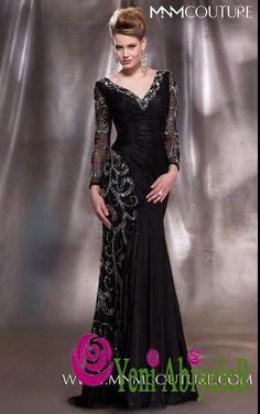 Siyah gri işleme balık elbise