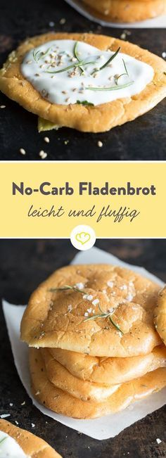 Für dieses Low-Carb Fladenbrot brauchst du nur vier Zutaten und kein Mehl: Eier, Backpulver, Honig und Frischkäse und du zauberst dein glutenfreies Brot.