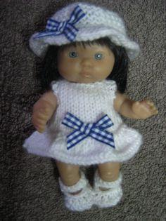 """Tricoté main tenue pour vêtements de poupées Berenguer 5 """""""
