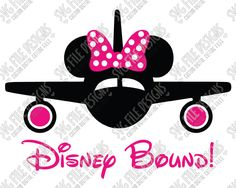 Disney Bound Minnie Mouse Airplane Cut File Set in SVG, EPS, DXF, JPEG, and PNG