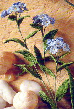 Crochet forget-me-nots @Christina Childress Childress Childress Childress & Wood this is for you :-)