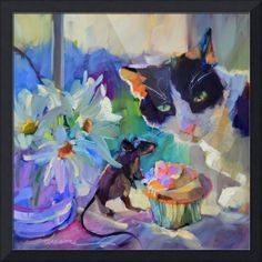 Original artwork from artist Dreama Tolle Perry on the Daily Painters Gallery Selling Paintings, Paintings I Love, Original Paintings, Cat Paintings, Original Artwork, Wall Art Prints, Fine Art Prints, Framed Prints, Canvas Prints