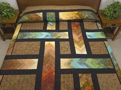 Autumn Paths Quilt -- great meticulously made Amish Quilts from Lancaster (hs6116)