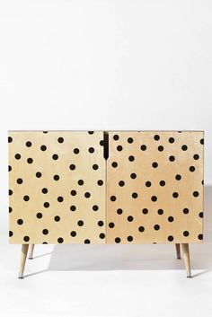 DENY Designs Garima Dhawan Vintage Dots Black Credenza | Domino