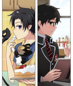 Ao no Exorcist (Blue Exorcist) Image - Zerochan Anime Image Board Ao No Exorcist, Blue Exorcist Anime, Rin Okumura, Otaku, Manga Anime, Anime Art, Anime Love, Anime Guys, Super Manga