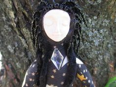 Crescent Moon Goddess Spirit Doll Poppet by AmethystWaysFairies