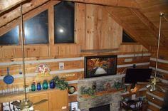 View from the loft Decor, Furniture, Log Cabin, Cabinet, Loft, Home Decor, Rental, Cabin Rentals