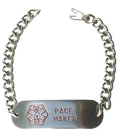 """Customizable, Pace Maker, Medical Alert Bracelet, Stainless Steel, 8"""" -- Be sure to check out this awesome product."""
