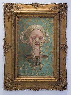 Flätade tårar (braided tears), oil on pannel 78x58cm 2009