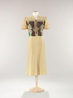 Circa 1937 Jessie Franklin turner wool dress via the MET.