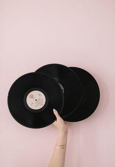 girl, retro, vynil, pink, vintage
