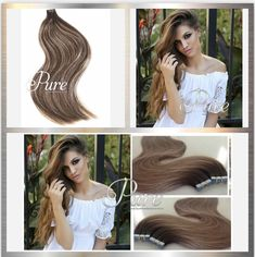 Most Stunning & Extensive Range Of Hair Extensions Invisible Hair Extensions, Tape In Hair Extensions, Best Ombre Hair, Brown Ombre Hair, Blond, Balayage Ombré, Remy Human Hair, About Hair, Cool Hairstyles