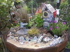 40 Magical DIY Fairy Garden Ideas #fairygardening