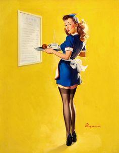 Gil Elvgren (via Classic Pin Up - Girls at Work)