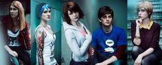Life is Strange Cosplay - Rachel, Chloe, Max, Warren, and Victoria