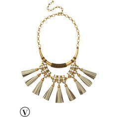 Stella & Dot Tribal Tassel Necklace (245 CAD) ❤ liked on Polyvore featuring jewelry, necklaces, stella & dot, tribal necklace, collar jewelry, vintage collar necklace and leather jewelry
