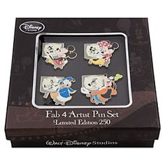Mickey Mouse Pin Set - Walt Disney Studios | Disney StoreMickey Mouse Pin Set - Walt Disney Studios - Celebrate historic Walt Disney Studios in Burbank with a set of four expressive Disney pins featuring Mickey, Minnie, Donald, and Goofy as animators. Bring back nostalgic memories of hand-drawn character animation for your collection.