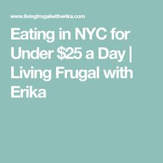 Eating in NYC for Under $25 a Day | Living Frugal with Erika