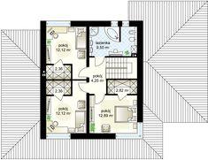 m² Wysokość m Kąt nachylenia Modern Family House, Small Modern Home, Modern House Plans, Verona, House Entrance, Ground Floor, Planer, Building A House, New Homes