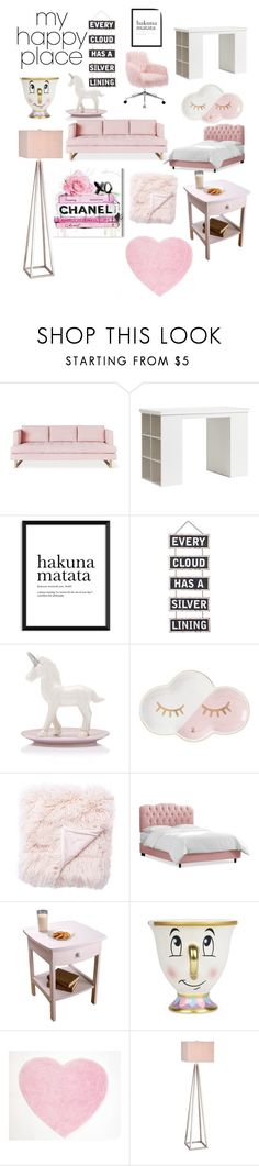 """""""Pastel Paradise"""" by lanicorn ❤ liked on Polyvore featuring interior, interiors, interior design, home, home decor, interior decorating, Gus* Modern, PBteen, Silver Lining and Jaipur"""