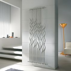 Design radiators Rio in stainless steel 1 Wall Radiators, Decorative Radiators, Vertical Radiators, Modern Interior, Modern Decor, Interior Design, Stainless Steel Radiators, Radiator Heater, Diy Home