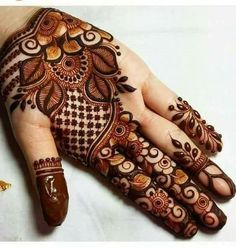 We have got a list of top Mehndi designs for Hand. You can choose Mehndi Design for Hand from the list for your special occasion. Henna Hand Designs, Eid Mehndi Designs, Mehandi Design For Hand, Simple Arabic Mehndi Designs, Mehndi Designs For Girls, Modern Mehndi Designs, Mehndi Design Pictures, Beautiful Henna Designs, Latest Mehndi Designs