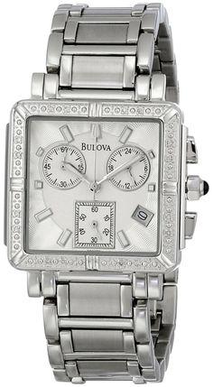 #Bulova #Women's 96R000 #Diamond Accented Chronograph #Watch