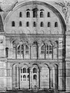 Close up ofNorth Nave in Hagia Sophia