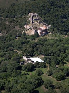Aerial view of the Dmanisi excavation site (foreground) and medieval town; Picture: Fernando Javier Urquijo