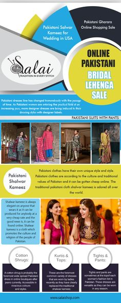 Our Website: https://salaishop.com Ethnic wear are considered as the most appropriate attire for any occasions. These not only reflect rich cultural heritage, but also help in offering fashionable looks. Pakistani designer suits online are perfect to wear on the grandest as well as the normal occasions.