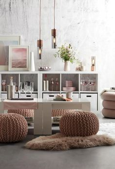 Zierkissen in Rosa online bestellen Shelving, Home Decor, Pink, Big Pillows, Shelves, Shelving Racks, Interior Design, Home Interior Design, Shelf