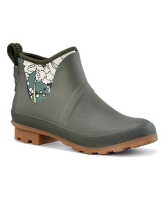 ded234963338 Take a look at this Olive Floral Mano Rain Boot today! Rain Boots