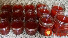 Strawberry-Rhubarb Jam with Vanilla Bean & Bergamot Strawberry Rhubarb Jam, Canning Recipes, Bergamot, Sweet Desserts, Salsa, Vanilla, Food And Drink, Smoothie, Jar