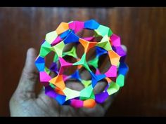 Modular Origami - How to makev Modular Football Sphere Origami (Reuploaded)