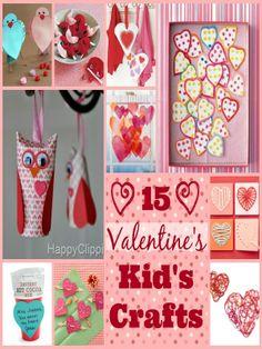 15 Valentine's Day Kid's Crafts