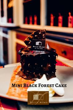 Happiness is. . .  .  eating a mini black forest cake at Dello Mano :)