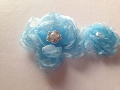 "Blue organza. Not finished and needs to be ""fluffier"""