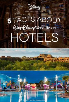 Whether you're planning your first visit to Walt Disney World®️️ Resort or you go every year, you can always learn something new about all the fun details to be found. We've got some cool facts behind what makes the Resort stays at the Park stand apart. Disney Resort Hotels, Disney World Hotels, Disney Destinations, Walt Disney World Vacations, Disney Trips, Hotels And Resorts, Disneyland Vacation, Disney Travel, Walt Disney Facts
