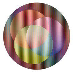 carlos cruz-diez, inducción circular antonellaCarlos Cruz-Diez🍁🔹More Pins Like This At FOSTERGINGER @ Pinterest🔹🍁🉐