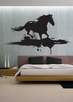 Modern Horse  - Wall Decal Vinyl Decor Art Sticker Removable Mural Modern Animals Art. $79.99, via Etsy.