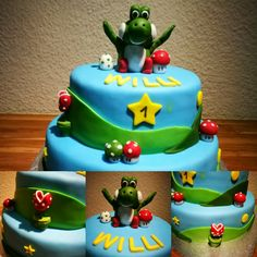 Geburtstagstorte Yoshi