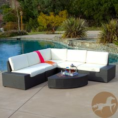 Never again stress about having your guests sit comfortably outside. With this large outdoor sofa set, you will always have plenty of comfortable seats for your friends and family to lounge and relax.