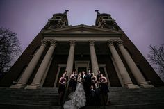 Matt Shumate Photography st als church gonzaga campus dramatic wedding party photo