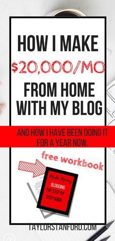 How I Made $20000 Blogging#howtostartablog#makemoneyblogging#waystomakemoney
