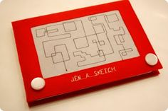 Gadget cover that looks like and Etch-a-sketch!