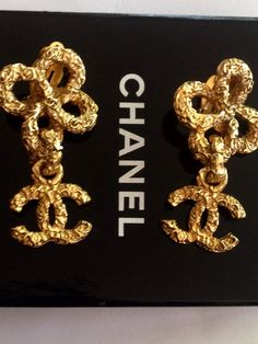 A personal favorite from my Etsy shop https://www.etsy.com/listing/232700372/chanel-gold-clip-on-earrings-authentic