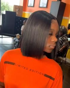 Thriving Hair Summer Pre-Plucked Short Straight Bob Virgin Human Hair Lace Front Wigs for black women # Braids africaines carre # Braids africaines carre Short Bob Wigs, Short Bob Hairstyles, Braided Hairstyles, Wig Bob, Hairstyles Videos, Curly Hair Styles, Natural Hair Styles, Bob Lace Front Wigs, Langer Bob