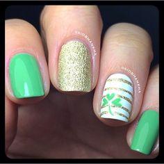 siobhankha ST PatrickS DAY #nail #nails #nailart